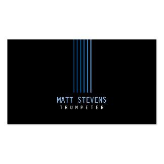 Haces del azul de la tarjeta de visita del músico