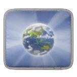 Haces luminosos de la tierra fundas para iPads