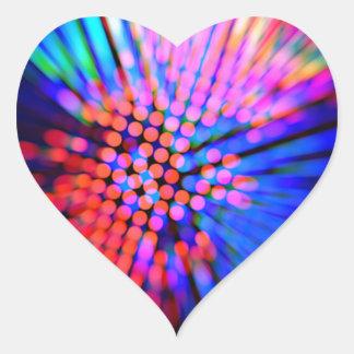 haces luminosos pegatina de corazón