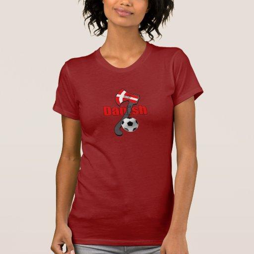 Hacha danesa de vikingo de la dinamita del fudbol camisetas