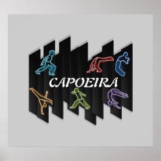 Hacha de Bahía de los artes marciales del capoeira Póster