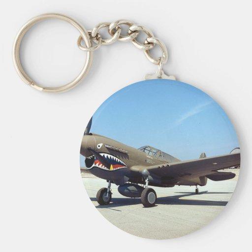hacha de guerra de los curtiss P-40 Llavero Redondo Tipo Pin
