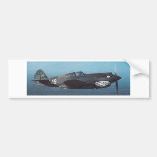 hacha de guerra de los curtiss P-40 Pegatina Para Auto