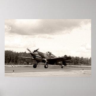 Hacha de guerra de P-40C Posters