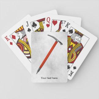Hacha de hielo barajas de cartas