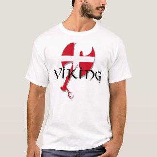 Hacha de la bandera de Viking Dinamarca del danés Playera