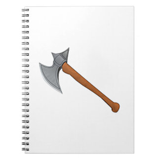 Hacha de la batalla cuadernos