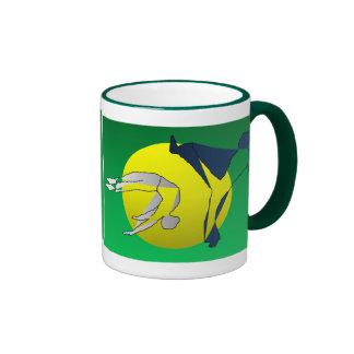 hacha de la bebida de los artes marciales del capo tazas de café