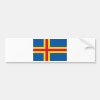 HACHA de las islas de Åland Etiqueta De Parachoque