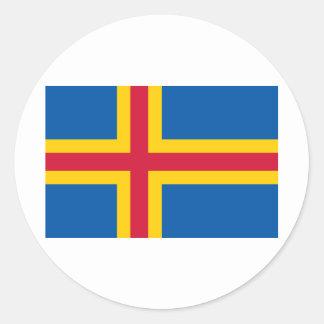 HACHA de las islas de Åland Etiqueta Redonda
