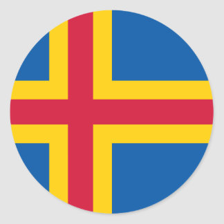 HACHA de las islas de Åland Pegatina Redonda