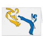 hacha de los artes marciales del cumpleaños de los felicitación