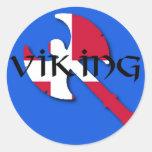 Hacha de vikingo del danés pegatinas