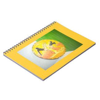 hacha el Brasil de los artes marciales del capoeir Libreta Espiral