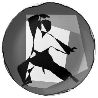 hacha mezclada del Brasil de los artes marciales Platos De Cerámica