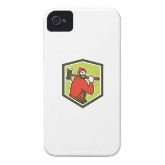 Hacha que lleva del leñador de Paul Bunyan Case-Mate iPhone 4 Cobertura