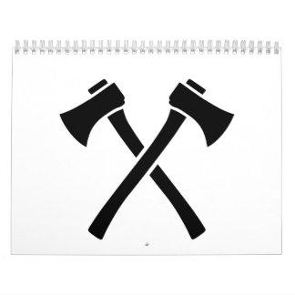 Hachas cruzadas calendarios