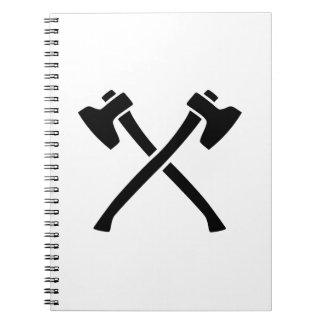 Hachas cruzadas cuaderno
