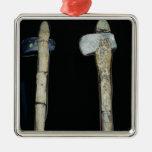 Hachas de piedra, prehistóricas adornos de navidad