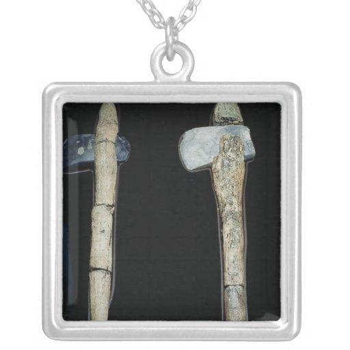 Hachas de piedra, prehistóricas collar personalizado