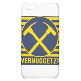 Hachas del azul del logotipo de Webnuggetz