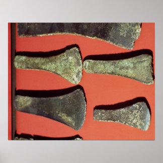 Hachas planas, prehistóricas póster