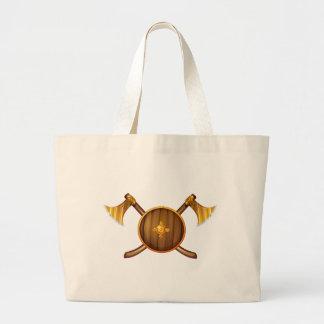 Hachas y escudos bolsa tela grande