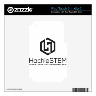 HachieSTEM Black Logo Decal For iPod Touch 4G