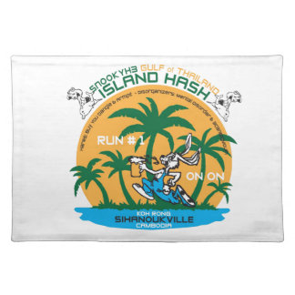 Hachís de la isla de los corredores de cross de la mantel individual