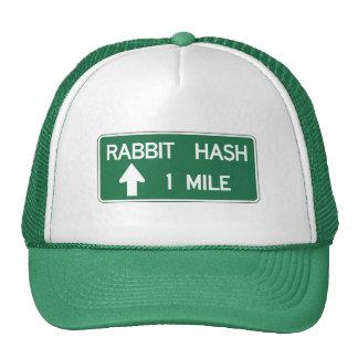 Hachís del conejo, marcador del camino, gorra