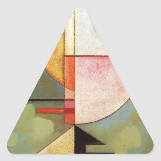 Hacia arriba pegatina triangular