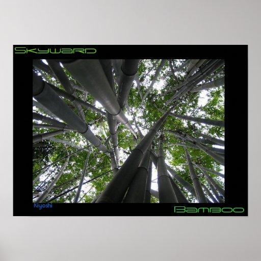 Hacia el cielo bambú también póster