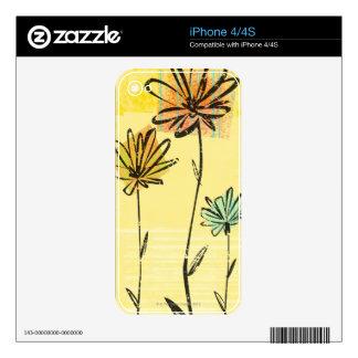Hacia el cielo florece calcomanías para iPhone 4S