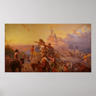 ¡Hacia el oeste Ho! - 1860 Poster