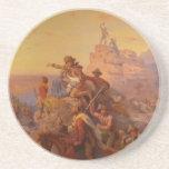 ¡Hacia el oeste Ho! - 1860 Posavasos Personalizados