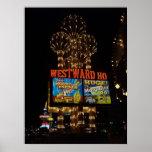 Hacia el oeste Ho impresión del poster de Las Vega