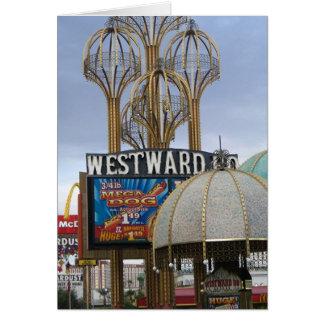 hacia el oeste ho - perro mega - Las Vegas Tarjetón