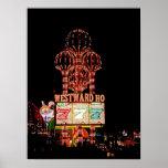 Hacia el oeste Ho poster de la carpa de Las Vegas