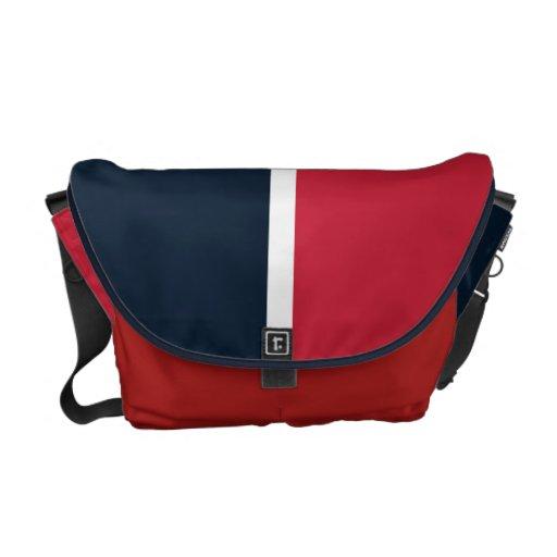 Hacia el sudoeste rojo y azul bolsa de mensajería
