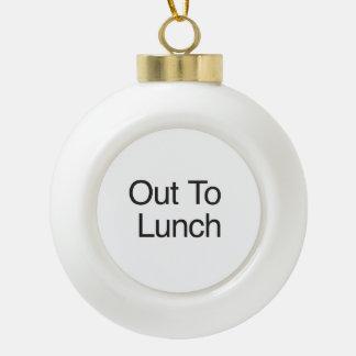 Hacia fuera al almuerzo adornos