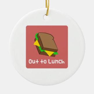 Hacia fuera al almuerzo adornos de navidad