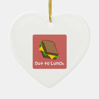 Hacia fuera al almuerzo ornaments para arbol de navidad