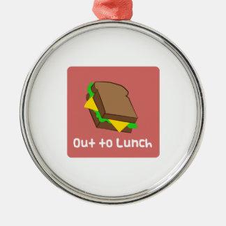 Hacia fuera al almuerzo adorno