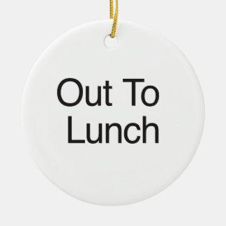 Hacia fuera al almuerzo adorno para reyes