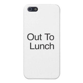Hacia fuera al almuerzo iPhone 5 cobertura