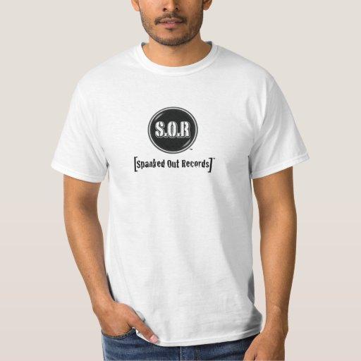 Hacia fuera azotada camiseta de Records™ (logotipo Playeras