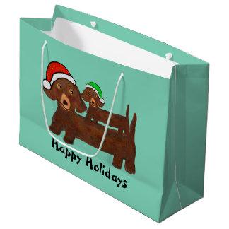 Hacia fuera bolsos cubiertos del regalo de los bolsa de regalo grande