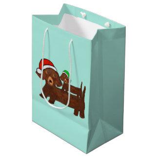 Hacia fuera bolsos cubiertos del regalo de los bolsa de regalo mediana