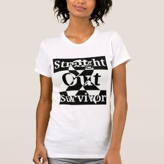 Hacia fuera camisa recta del superviviente