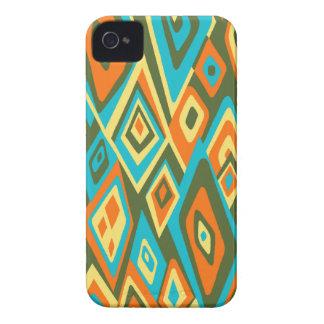Hacia fuera caso abstracto retro lejano del iPhone Case-Mate iPhone 4 Carcasas